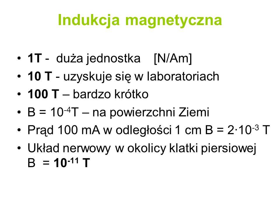 Indukcja magnetyczna 1T - duża jednostka [N/Am]